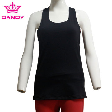 Female backless training tank top