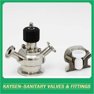 Sanitary clamp aseptic diaphragm sample valves