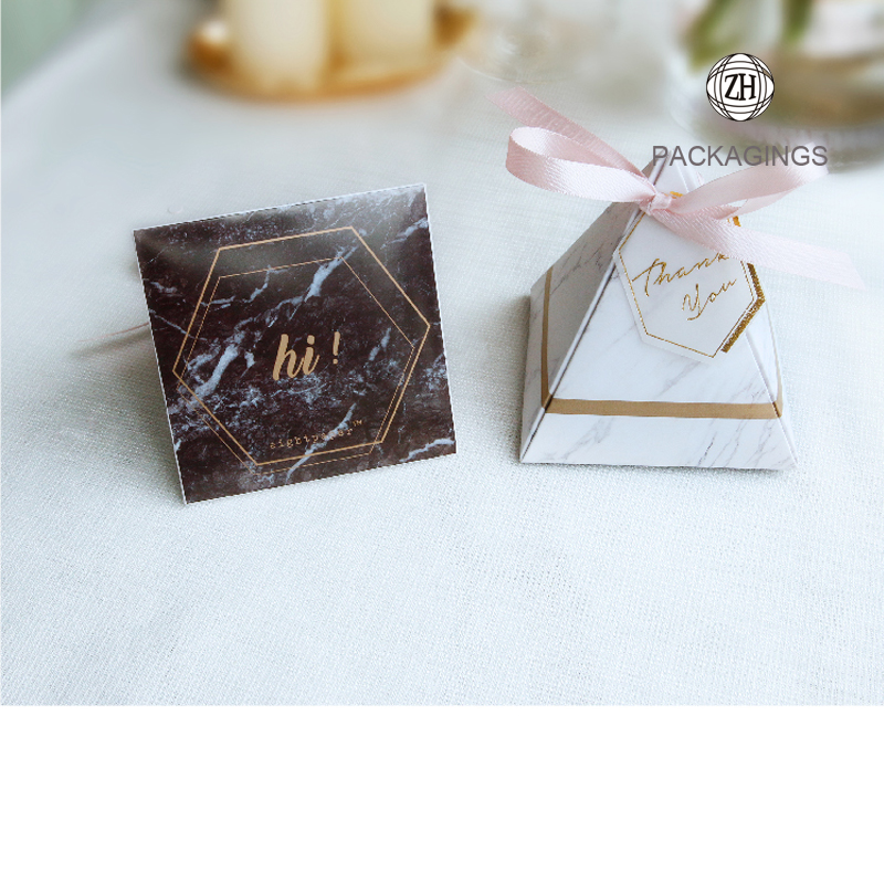 Pyramid candy box mini for wedding favors wholesale