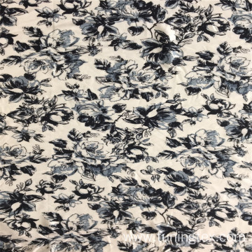 Ink Painting Style Rayon Big Floral Print Fabric