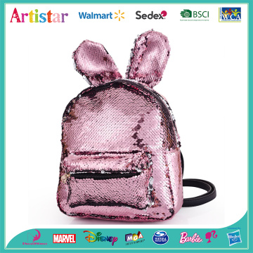 Rabbit pink sequin backpack