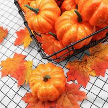 12Pcs Artificial Pumpkin Decoration Halloween Party Decor Pumpkins 4.2*5.2cm Garden DIN889