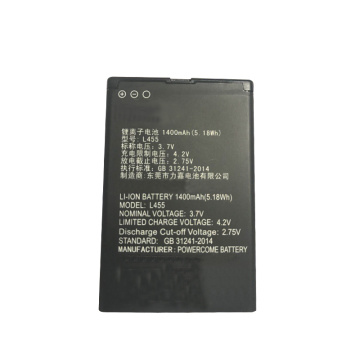 3.7V 1400mAh Li-ion Battery for Smart Phone