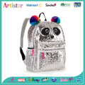 Panda white sequins backpack