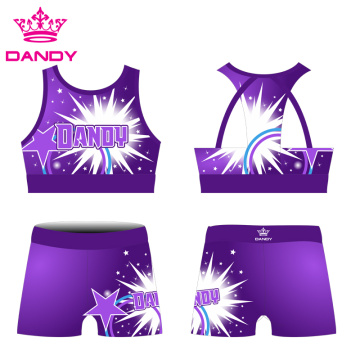 Dye Sublimation College Cheer Uniforms For Training