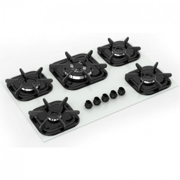 Mueller 5 Burner Stove White Top