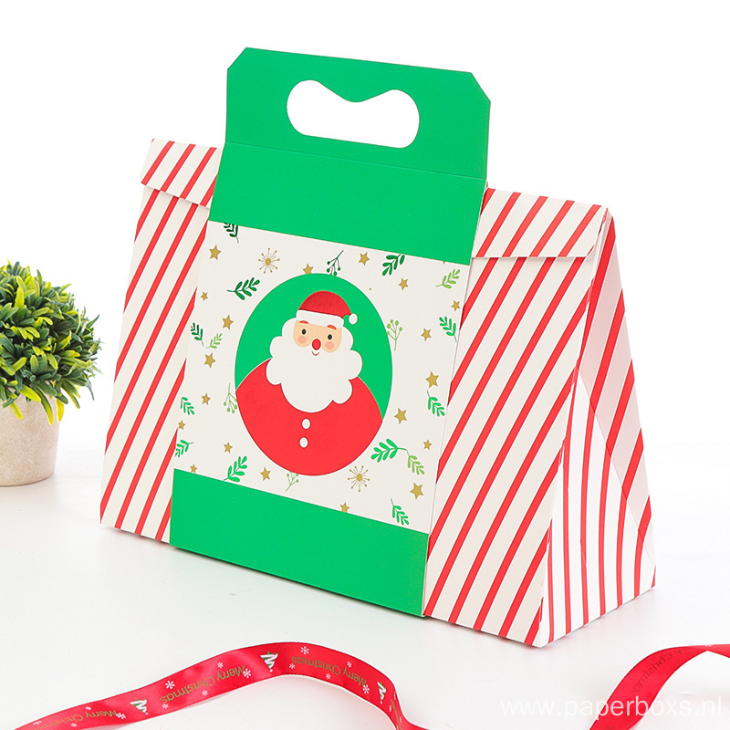 Custom Printing Paper Christmas Box For Gift Candy
