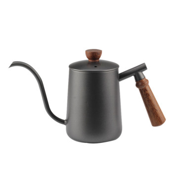 CoffeeShop PaintingBlack Wooden Handle PourOver CoffeeKettle