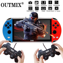 X40 Video Game 7.1 inch LCD Double Rocker Portable Handheld Retro Game Console Video MP4 Player TF Card for GBA/NES 3000 Games