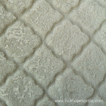 Luxury Short Plush Velvet Embossed PV Fabric