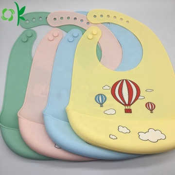 OEM Customized Cartoon Printing Silicone Baby Bibs