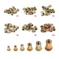 10/20PCS Carbon steel Rivet Nuts M3 M4 M6 M8 M10 Flat Head Rivet Nuts Set Nuts Insert Riveting Multi Size