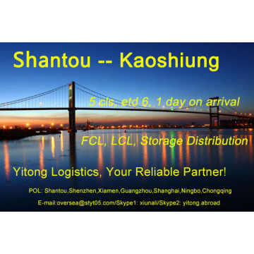 Shantou Sea Freight to Kaoshiung