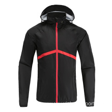 Mens Black Soccer Wear Zip Up Hoodies