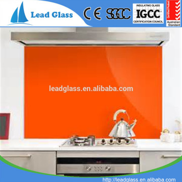 5mm 6mm Tempered Back Painted Kitchen Splashback Glass