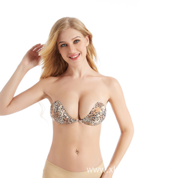 Leopard Tiger Print Push Up Strapless Mango Bra
