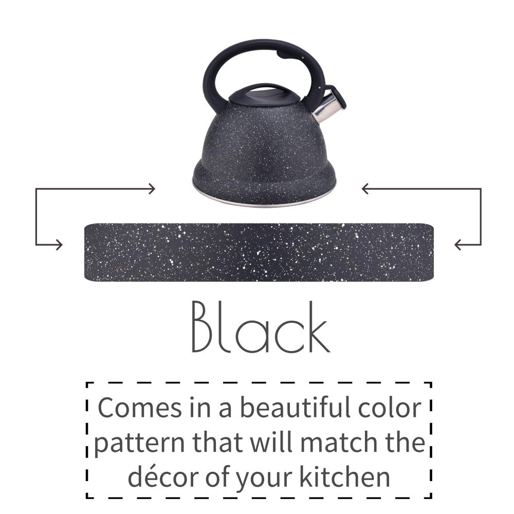 Black Whistling Stovetop Water Kettle