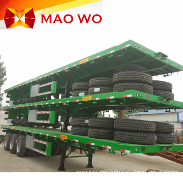 High Quality Container 40ft 3 Axle Flatbed Trailer