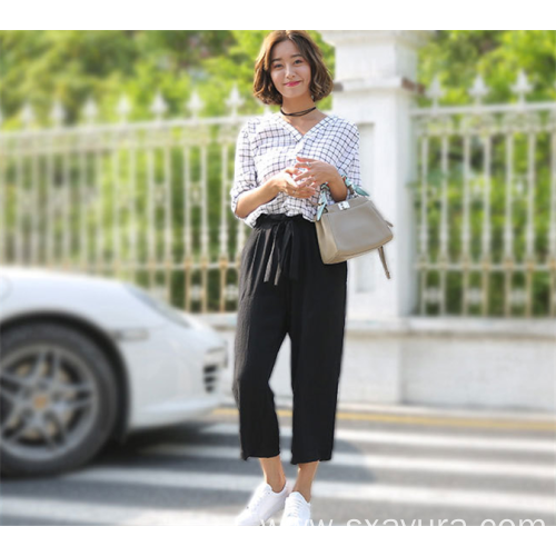 Female wide leg pants in summer and autumn