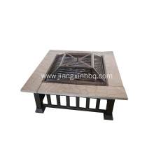 Square Table Backyard Outdoor Firepit