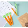 5Pcs Food Sealing Clip Food Tongs Cartoon Orange Carrot Shape Moisture-Proof Closure Clamp for Food Fresh Keeping Kichen Tools