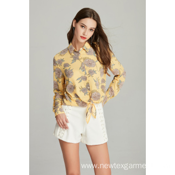 New ladies fashion printed blouse for Summer
