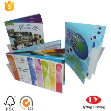 cheap Saddle Stitching Binding brochure book printing