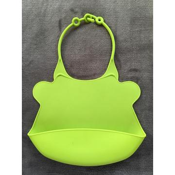 Food grade waterproof silicone baby bibs food pockets