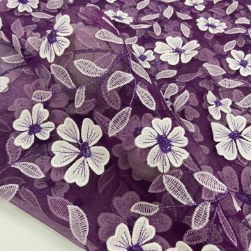 2021 S/S 3D Inflorescence Color Combine Embroidery Fabric