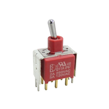 Silver or Gold Plated Contact Toggle Switches with IP67 certificated and RoHs Compliant