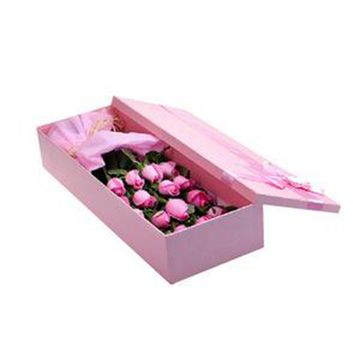 Rigid flower gift packaging box