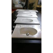 Stone resin double bowl washbasin for bathroom