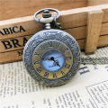 Steampunk Roman Numerals Pocket Watch Men Women Hollow Case Vintage Fob Pocket Watches with Pendant Necklace Gift cep saati