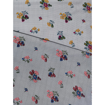 Texture Flower Rayon Voile 60S Printing Woven Fabric
