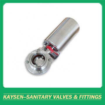 DIN Sanitary Pneumatic Clamped Butterfly Valves
