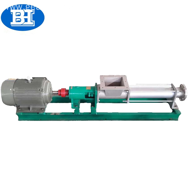 G type rotary single screw molasses juice sugar syrup pump