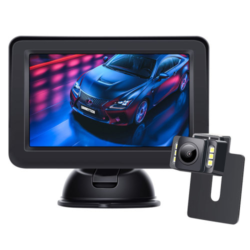 wireled backup camera monitor reversing aid for car