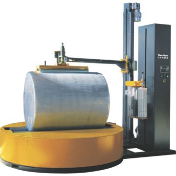 Paper roll stretch film wrapping machine