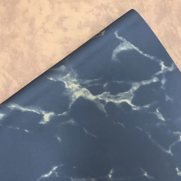 Marble Embossed PU Hotstamping Leather for Notebook Cover