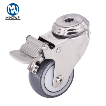 3 Inch Bolt Hole Caster With Brake