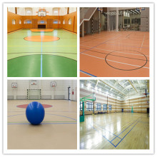 5mm thick indoor pvc basketball flooring