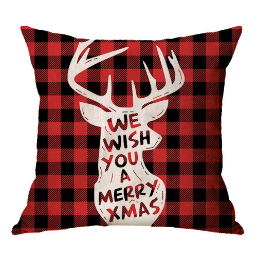 New Christmas Plain Style Hot Amazon Throw Cushion Cover