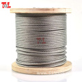 Factory Price 6mm Stainless Steel Wire Rope 7*7