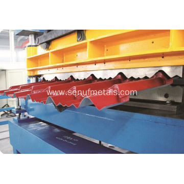 Glazed tile roofing sheet roll forming machine