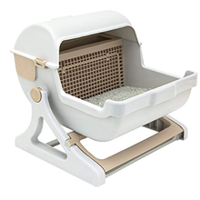 Pet semi-automatic quick cleaning cat litter box