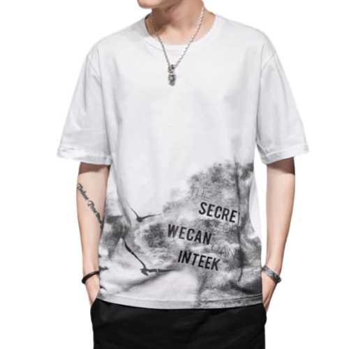 Printed Fashion Short-sleeved Cotton T-shirt