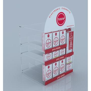 Customized acrylic store product counter display stand