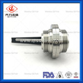ISO DIN 3A Idf Standard Threaded Sanitary Butterfly Valve