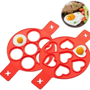 Silicone Nonstick Round Heart Shape Fried Egg Moulds