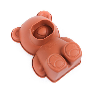 3D Kawaii Bear Silicone Cake Mold Pan